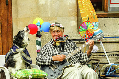 Photograph - Music On Cornmarket Street, Oxford, England, Uk by Tom Rydel