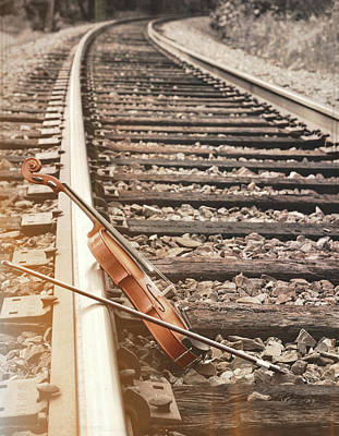 Photograph - Music On The Tracks by JAMART Photography