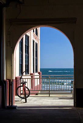 Photograph - Music Pier Doorway View by Carolyn Derstine