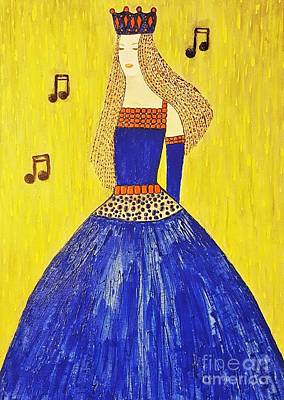 Painting - Music Princess by Jasna Gopic