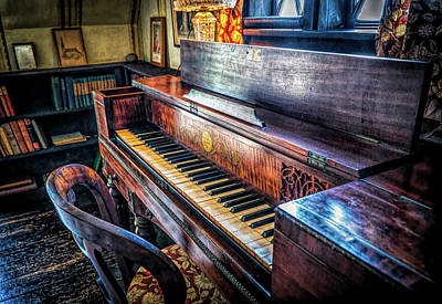 Photograph - Music Room In Beauport by Lilia D