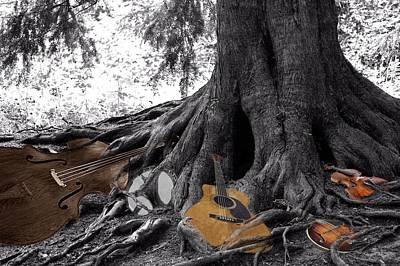 Tree Roots Digital Art - Music Roots by Debbie Hall