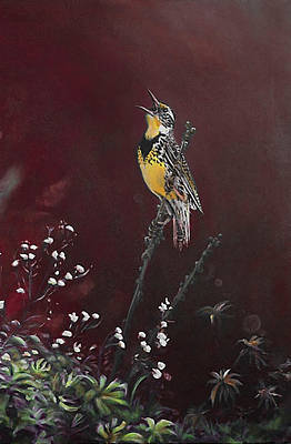 Meadowlark Digital Art - Music Song Songbird Bird by Emon Forever