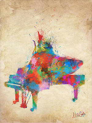 Pianist Digital Art - Music Strikes Fire From The Heart by Nikki Marie Smith