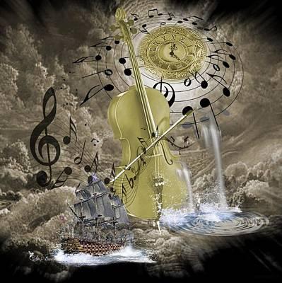 Digital Art - Music Time by Ali Oppy