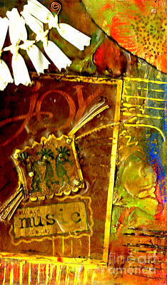 Mixed Media - Music To My Soul by Angela L Walker