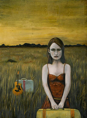 Music Traveler Original by Leah Saulnier The Painting Maniac
