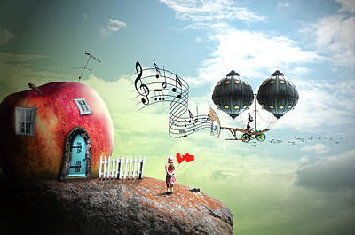 Fairy Doors Digital Art - Music Traveler by Nathan Wright