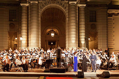 Photograph - Music Under The Stars - Symphony At Pasadena City Hall California by Ram Vasudev
