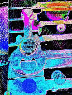 Music Vibes By Jasna Gopic Art Print by Jasna Gopic