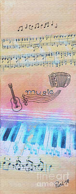 Painting - Music Was My First Love by Jutta Maria Pusl