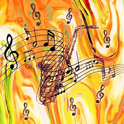 Mixed Media - Music Was My First Love by Gabriella Weninger - David