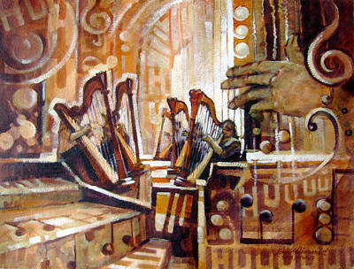 Contemplative Painting - Music Within by Richard McDiarmid