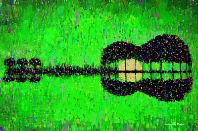 Silhouette Painting - Music World - Pa by Leonardo Digenio