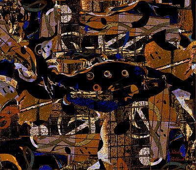 Mixed Media - Musical Abstract by Natalie Holland