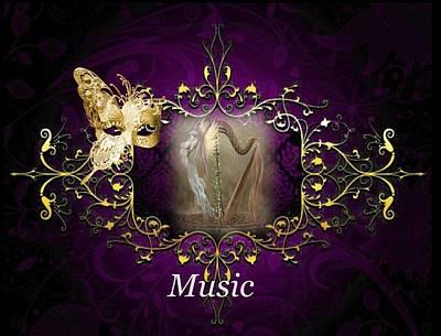 Digital Art - Musical by Ali Oppy