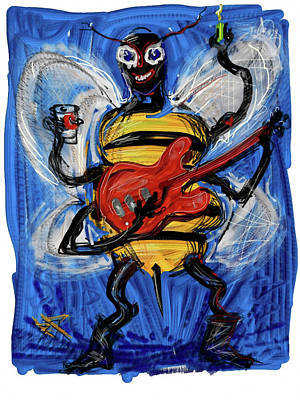 Digital Art - Musical Bee by Russell Pierce