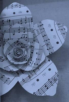 Photograph - Musical Bloom Cyan by Rob Hans