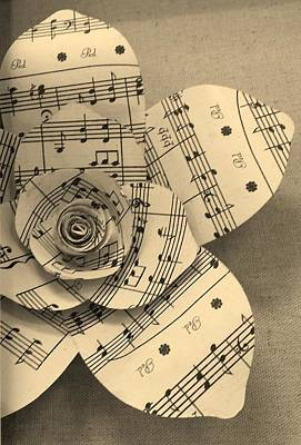 Photograph - Musical Bloom Sepia by Rob Hans
