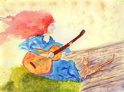 Painting - Musical Cat by Jim Taylor