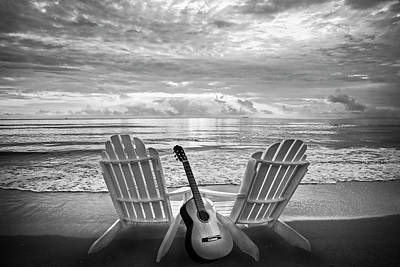Photograph - Musical Chairs In Black And White by Debra and Dave Vanderlaan