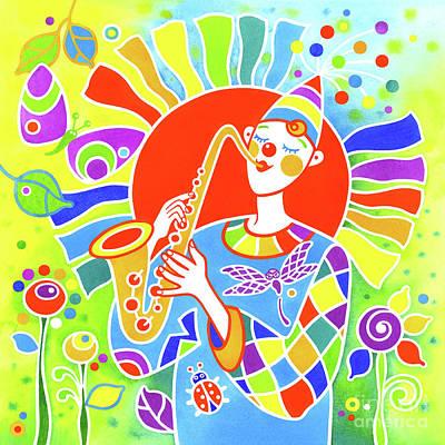 Wall Art - Painting - Musical Clown # 5 by Svetlana Titarenko