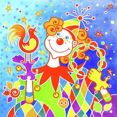 Wall Art - Painting - Musical Clown # 6 by Svetlana Titarenko