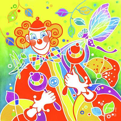 Wall Art - Painting - Musical Clown # 7 by Svetlana Titarenko