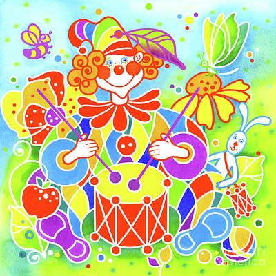 Wall Art - Painting - Musical Clown # 8 by Svetlana Titarenko