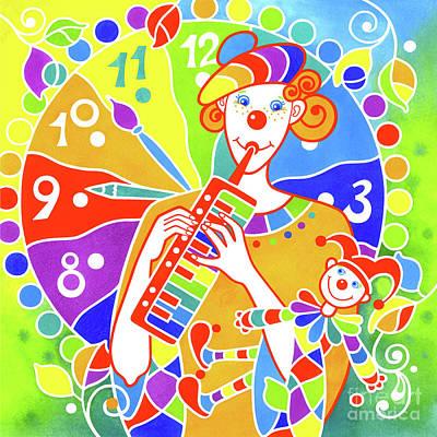Wall Art - Painting - Musical Clown # 9 by Svetlana Titarenko