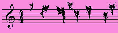 Digital Art - Musical Fairies by EricaMaxine  Price