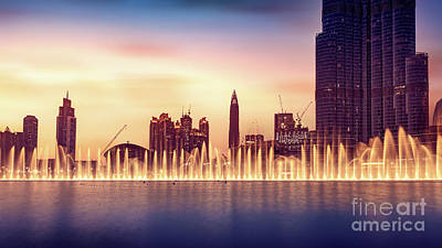 Photograph - Musical Fountain Of Dubai by Anna Om