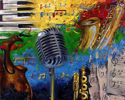 Musical Fusion Print by Lessie Venardo Dixon