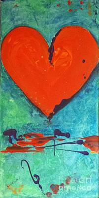 Painting - Musical Heart by Diana Bursztein