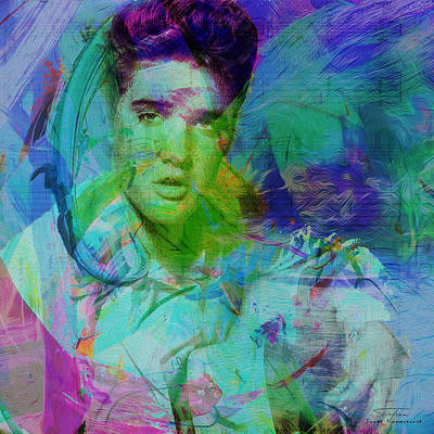 Elvis Presley Painting - Music Icons - Elvis Presley by Joost Hogervorst