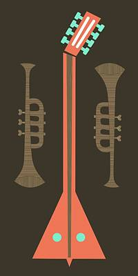 Digital Art - Musical Instruments 3 by Donna Mibus