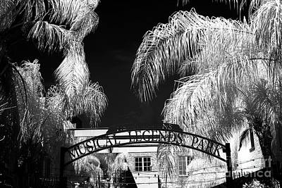 Musical Legends Park Infrared Print by John Rizzuto