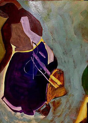 Painting - Musical Maid by Carole Johnson