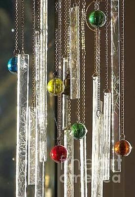 Glass Art - Musical Marbles by Jackie Mueller-Jones
