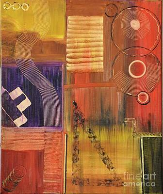 Coffee Jazz Music Abstract Painting - Musical by Margie Altmayer - Artist