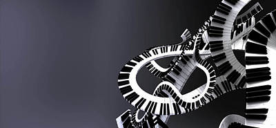Digital Art - Musical Movement by Ryan Darling