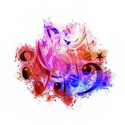 Digital Art - Musical Notes Art by Ian Mitchell