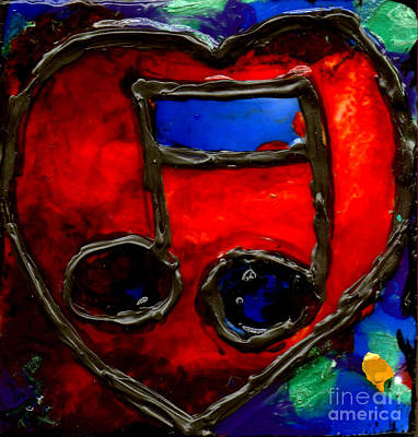 Painting - Musical Notes Heart by Genevieve Esson