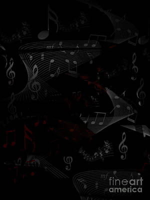 Digital Art - Musical Notes by Serena Ballard