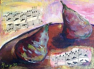 Impressionism Painting - Musical Pears by Roxy Rich