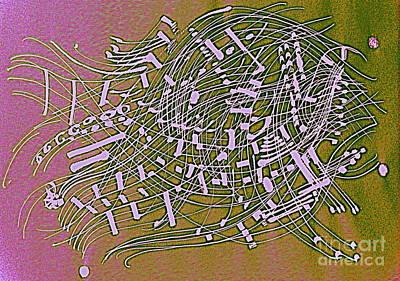 Abstract Digital Drawing - Musical Poem 2 by Nancy Kane Chapman
