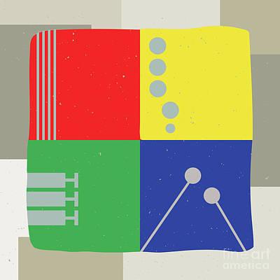 Digital Art - Musical Squares by Benjamin Harte