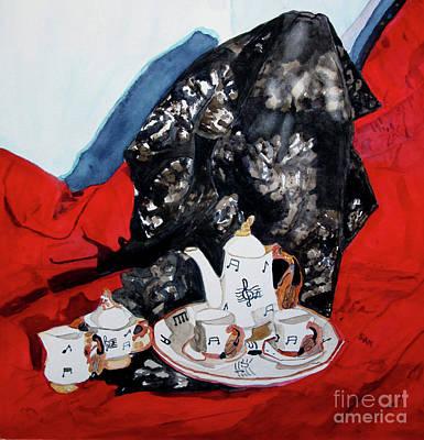 Painting - Musical Tea Set by Sandy McIntire