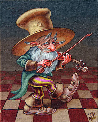 Painting - Musical Troll by Victor Molev