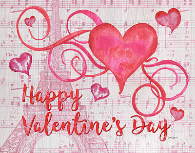 February Painting - Musical Valentine by Debbie DeWitt